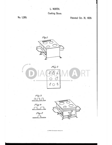 USPTO Patent_0001395 , Free Sketch - Diagramart Author, DiagramArt
