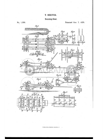 USPTO Patent_0001399 , Free Sketch - Diagramart Author, DiagramArt