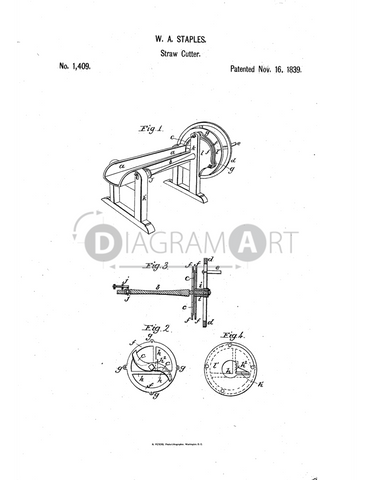 USPTO Patent_0001409 , Free Sketch - Diagramart Author, DiagramArt