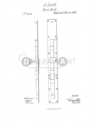 USPTO Patent_0001435 , Free Sketch - Diagramart Author, DiagramArt