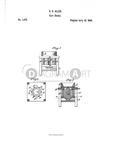 USPTO Patent_0001472 , Free Sketch - Diagramart Author, DiagramArt
