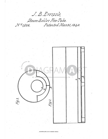 USPTO Patent_0001536 , Free Sketch - Diagramart Author, DiagramArt