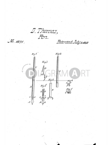 USPTO Patent_0001671 , Free Sketch - Diagramart Author, DiagramArt