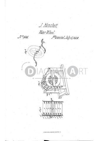 USPTO Patent_0001686 , Free Sketch - Diagramart Author, DiagramArt