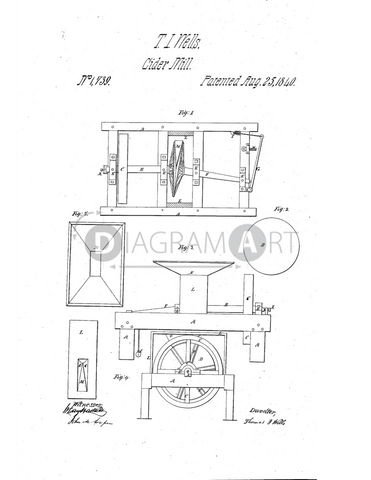 USPTO Patent_0001739 , Free Sketch - Diagramart Author, DiagramArt