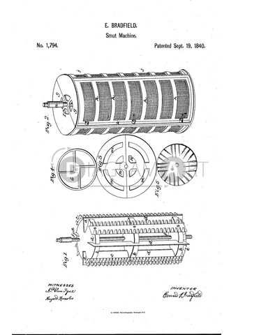 USPTO Patent_0001794 , Free Sketch - Diagramart Author, DiagramArt