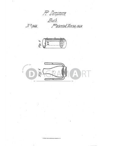 USPTO Patent_0001866 , Free Sketch - Diagramart Author, DiagramArt
