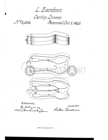 USPTO Patent_0002802 , Free Sketch - Diagramart Author, DiagramArt