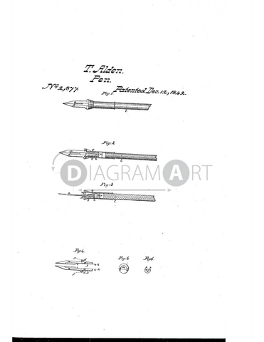 USPTO Patent_0002877 , Free Sketch - Diagramart Author, DiagramArt