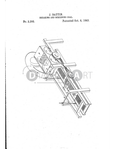 USPTO Patent_0003292 , Free Sketch - Diagramart Author, DiagramArt