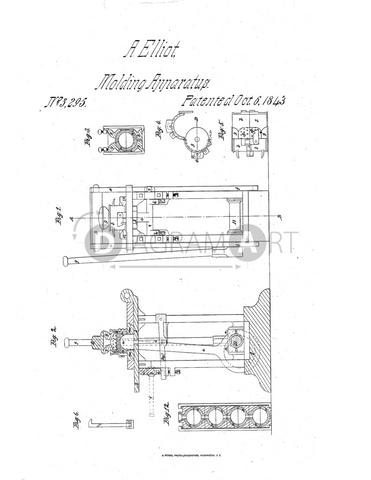 USPTO Patent_0003295 , Free Sketch - Diagramart Author, DiagramArt
