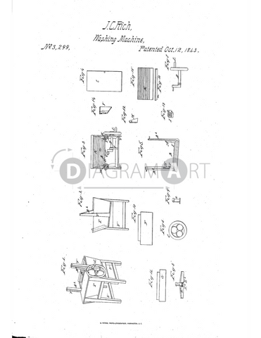 USPTO Patent_0003299 , Free Sketch - Diagramart Author, DiagramArt
