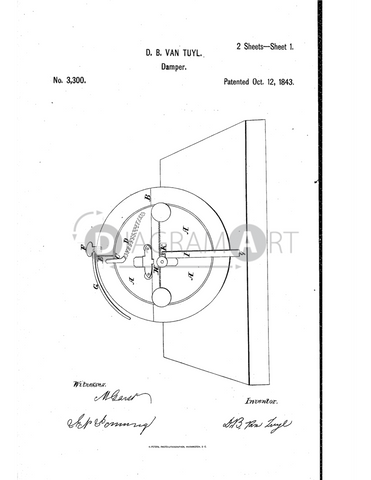 USPTO Patent_0003300 , Free Sketch - Diagramart Author, DiagramArt