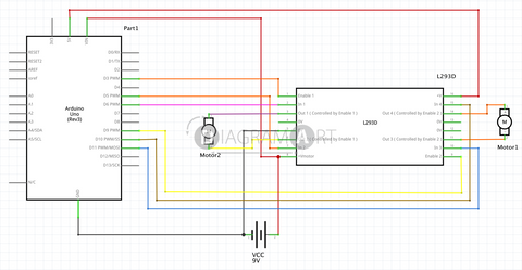H-Bridge with Arduino Uno R3 , Open Diagram - DIAGRAMART AUTHOR, DiagramArt