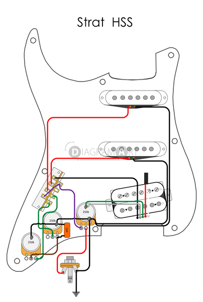 Electric Guitar Wiring: Strat HSS [Electric Circuit]