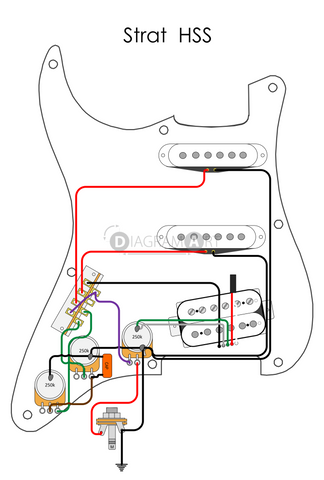 electric guitar wiring strat hss electric circuit