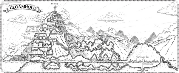Gloamhold game map by Tommi Salama , Free Sketch - DIAGRAMART AUTHOR, DiagramArt
