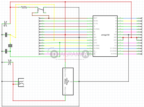 Barebones Arduino , Open Diagram - DIAGRAMART AUTHOR, DiagramArt