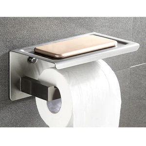 Modern Toilet Paper Holder with Shelf