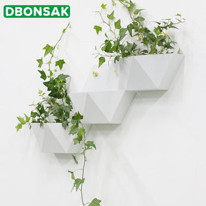 Hexagon Metal Wall Planter