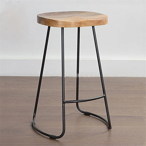 Modern Industrial Wood Stool