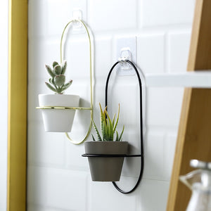 Ellipse Wall Planters, 2 Piece