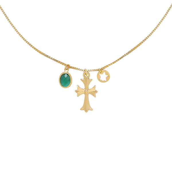 Funky Cross Necklace