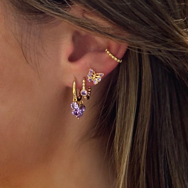 Tiny Butterfly Stud Earring