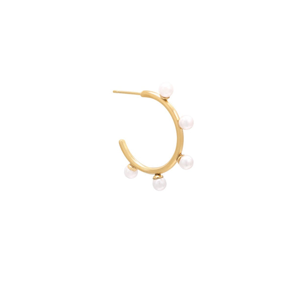 Pearly Valentina Hoop Earring