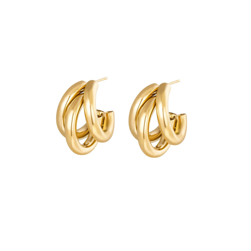 Gold Bold Ear Studs