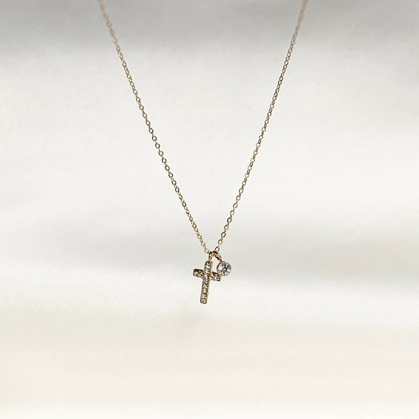 Necklace Small Diamond Cross
