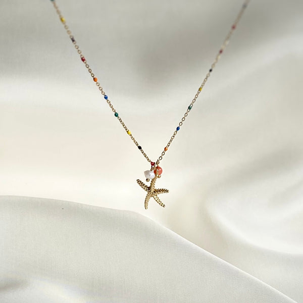 Gold Necklace Seastar