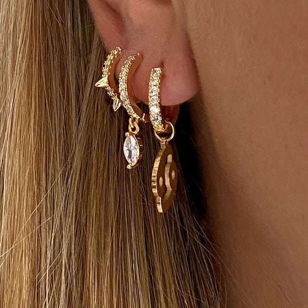 Zodiac Sign Earring Gold