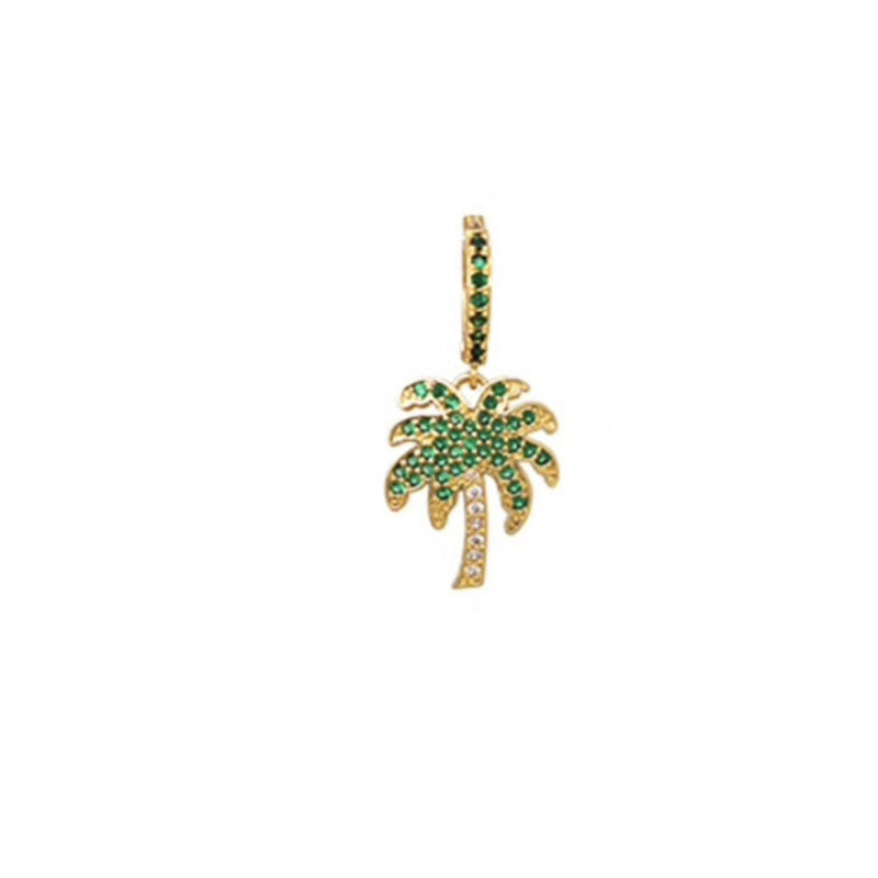 earring gold palm tree