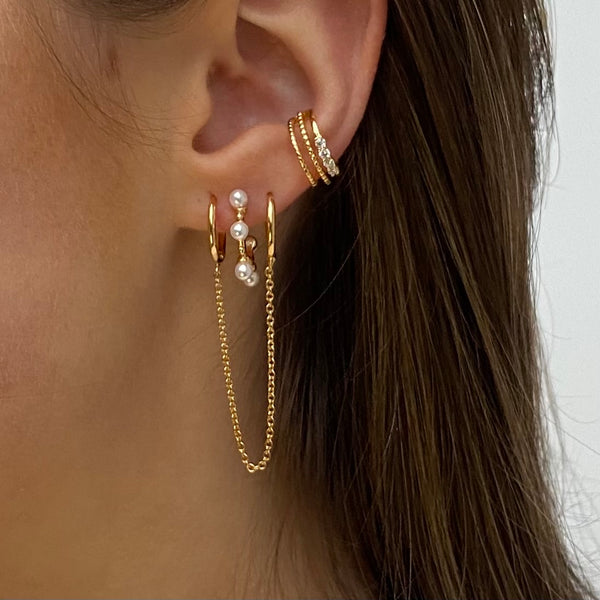 Earring Gold Handcuffs