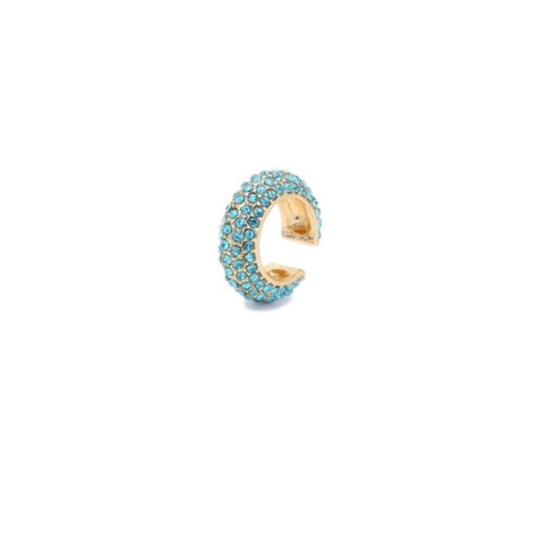 Bold Turquoise Ear Cuff