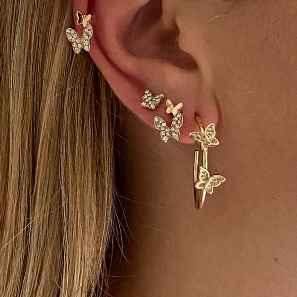 vlinder oorbellen|earrings gold butterfly|butterfly necklace gold|silver|vlinder ketting||hippe sieraden|fashion jewelry|gold earrings|sieraden webshop|sieraden goedkoop|my jewellery|hippe sieraden
