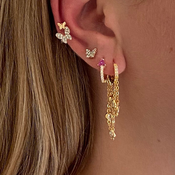 Ear cuff Double butterfly