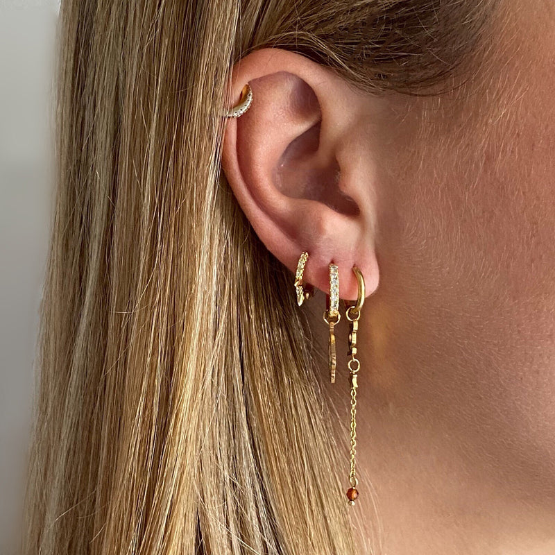 Small Hoop Gold Spikes