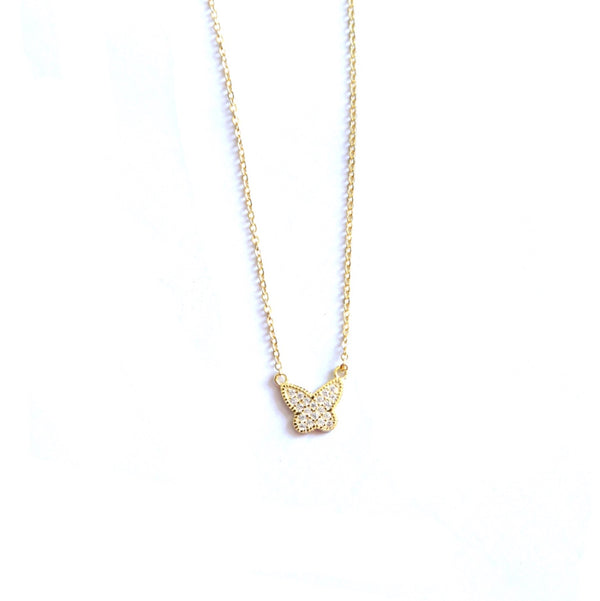 Small Butterfly Gold Necklace