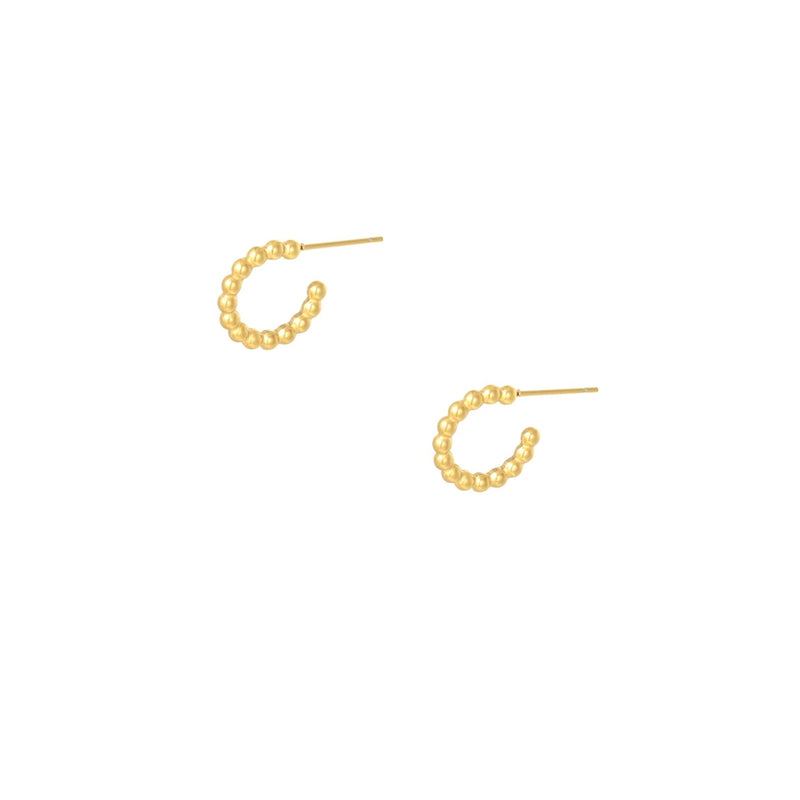 2 Small Golden Hoops Ellips
