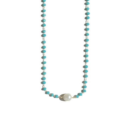 Turquoise Necklace Pearl