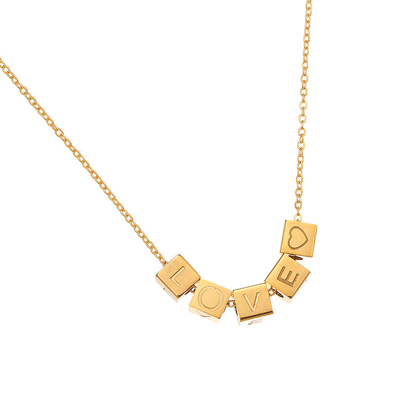 Necklace Love Dices