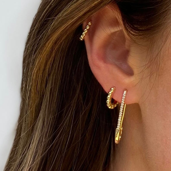 Fine Safetypin Earring
