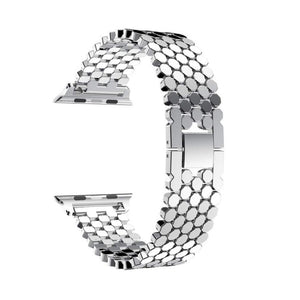 Luxury Stainless Steel Strap for Apple iWatch ( Butterfly Clasp )