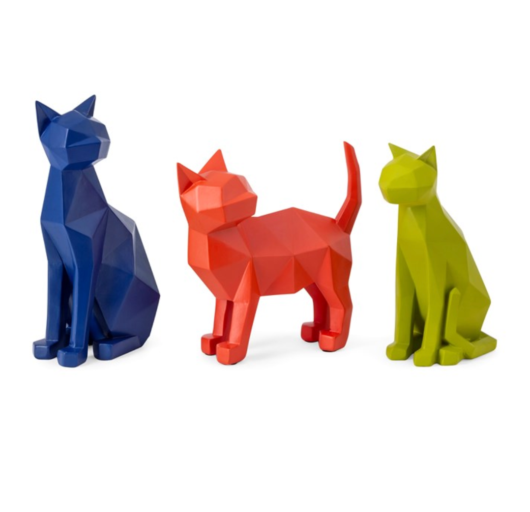 Origami Cat Statuaries
