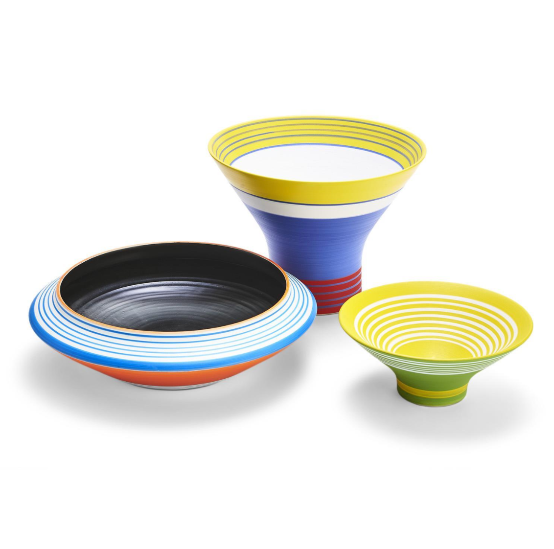 Ibiza Striped Colored Decorative Bowls