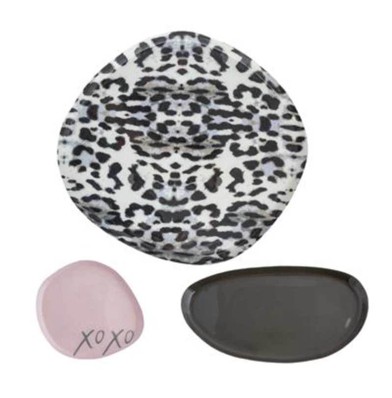 Enamel Trays Leopard - set of 3