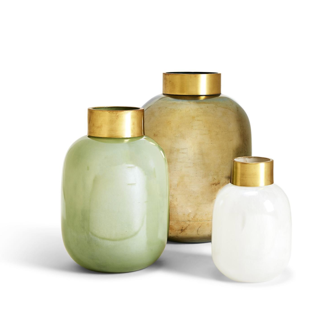Lux Vases with Golden Collar