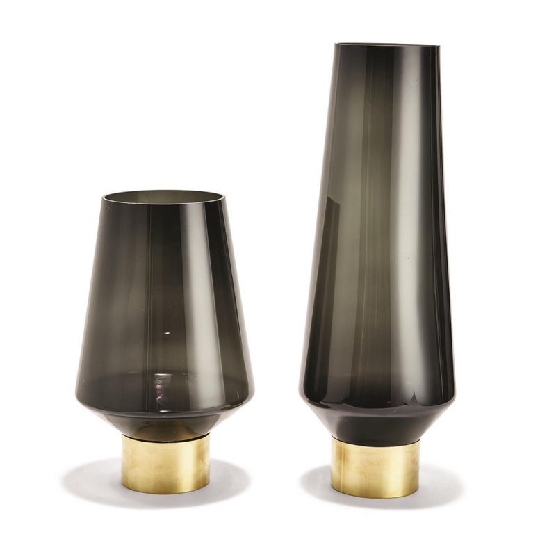 Smoke Vases with Brass